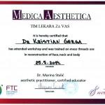 Gerga Kristian - 3D mezoniti sertifikat