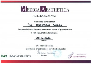 Gerga Kristian - Plazma lifting sertifikat