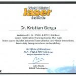 Dr Kristian Gerga - Laser diploma