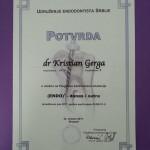 Dr Kristian Gerga - Diplome, sertifikati
